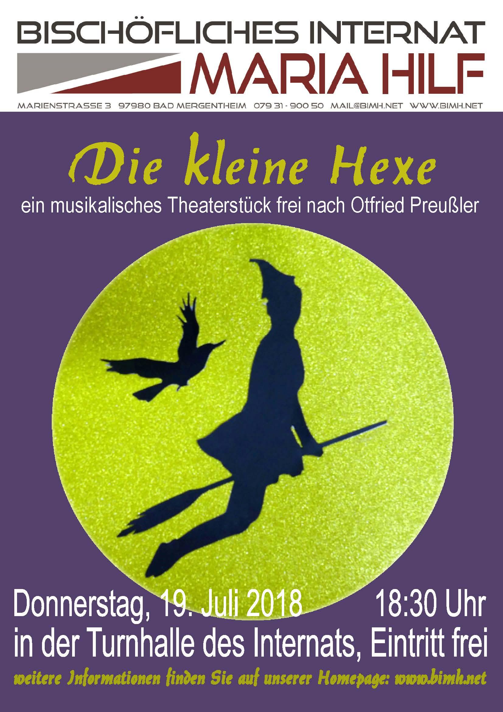"""Bischöfliches Internat Maria Hilf - Theaterpremiere: """"Die kleine ..."""
